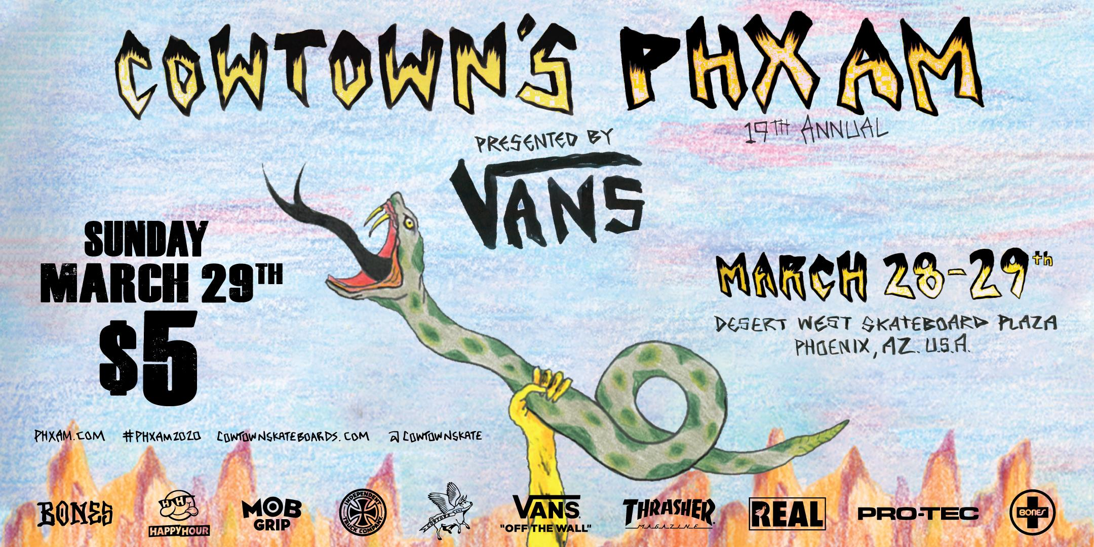 Cowtown's 19th Annual PHXAM - Qualifiers @ Desert West Skateboard Plaza