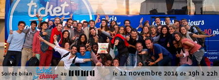 Soirée bilan Ticket for Change Paris