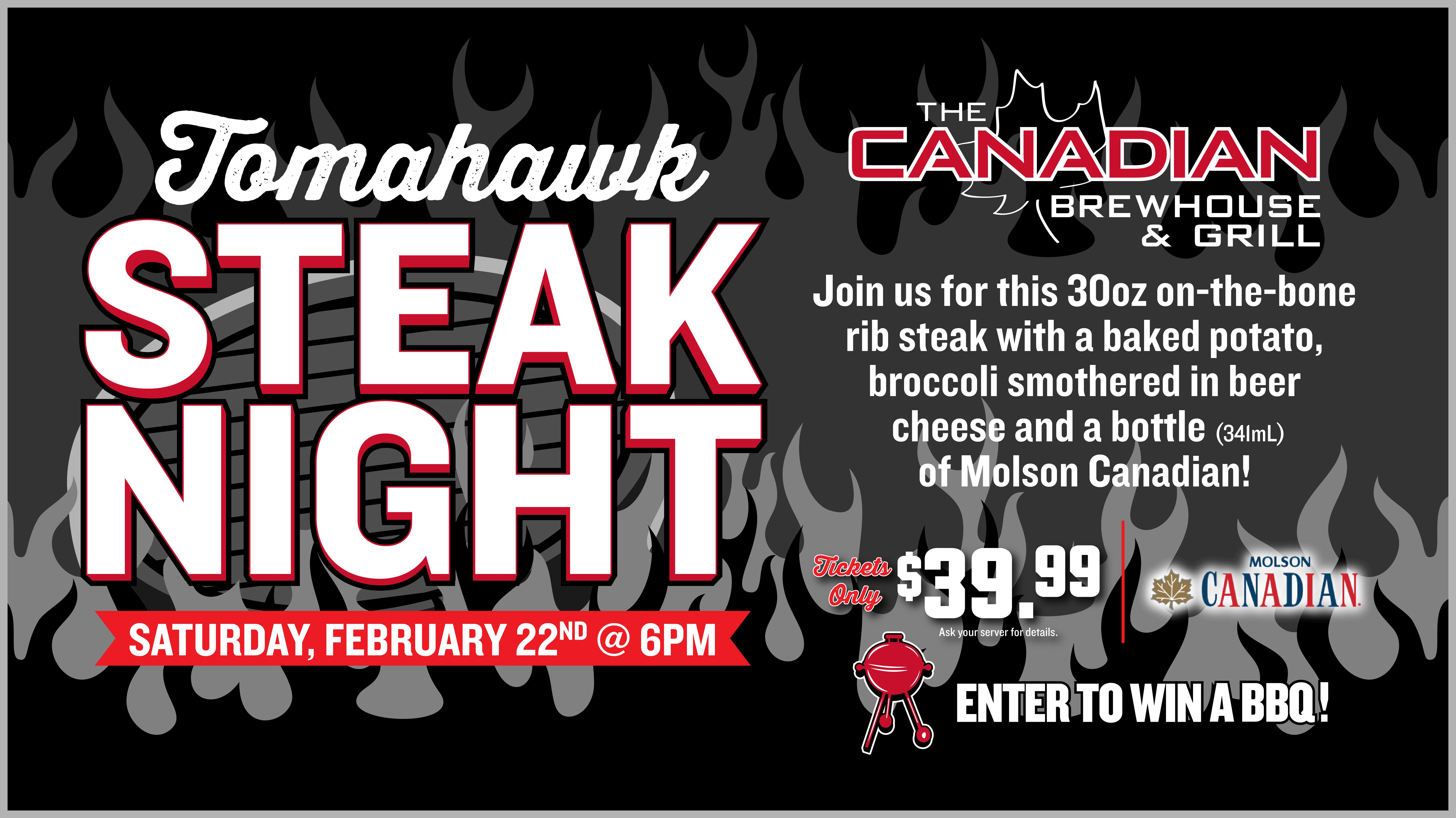 Tomahawk Steak Night (Kelowna)