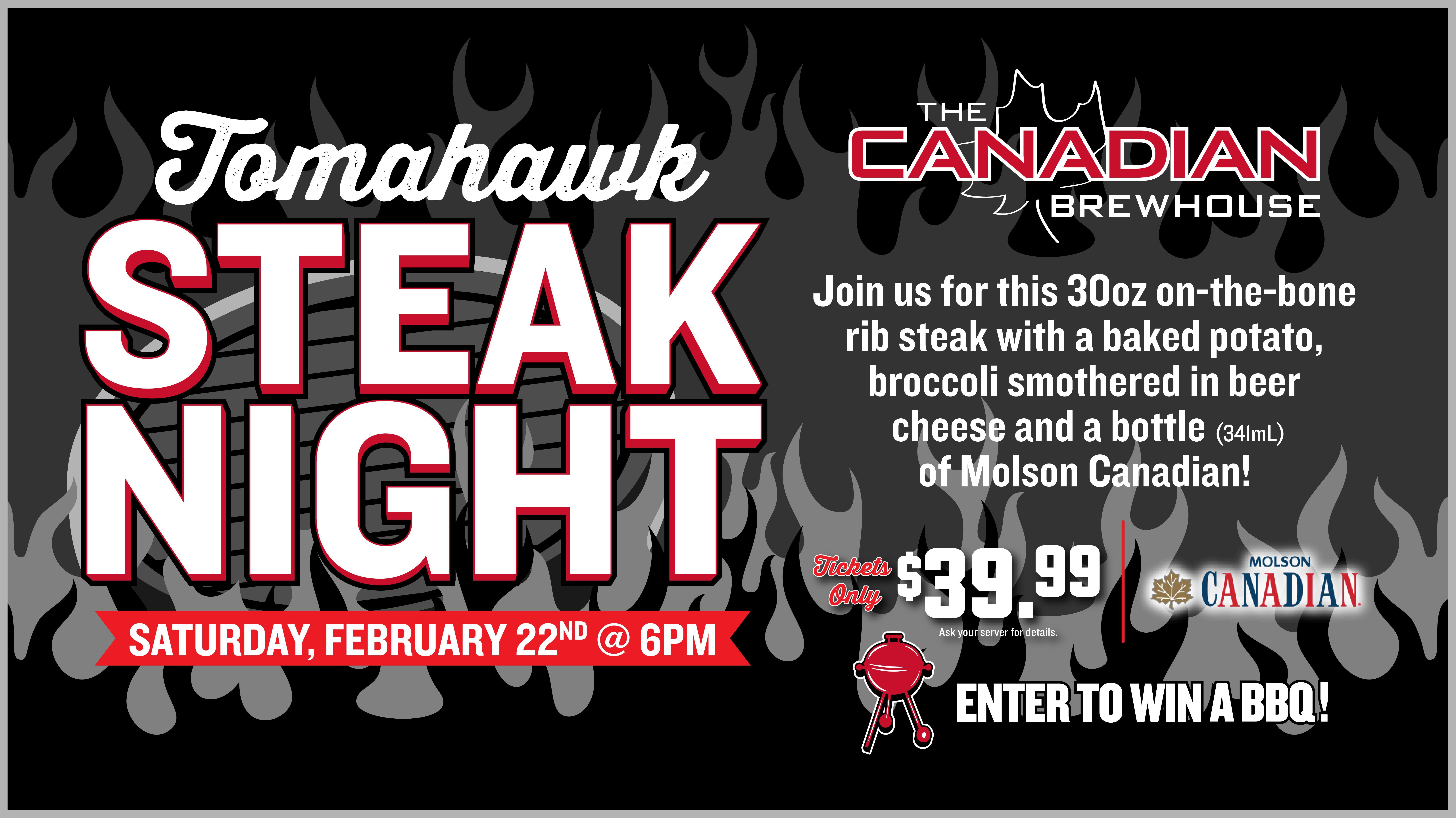 Tomahawk Steak Night (St. Albert - Jensen Lakes)