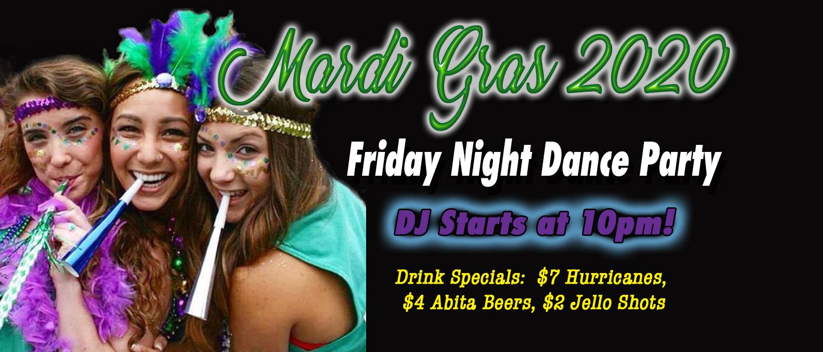 FRIDAY NIGHT MARDI GRAS PARTY AT THE BIG EASY - Downtown Raleigh