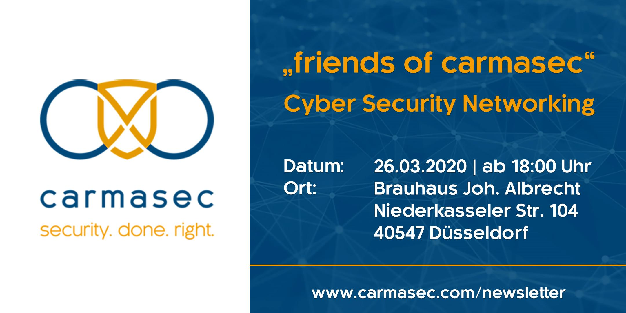 5. friends of carmasec Stammtisch - Cyber Security Networking