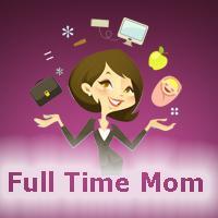 Full Time Mom  logo