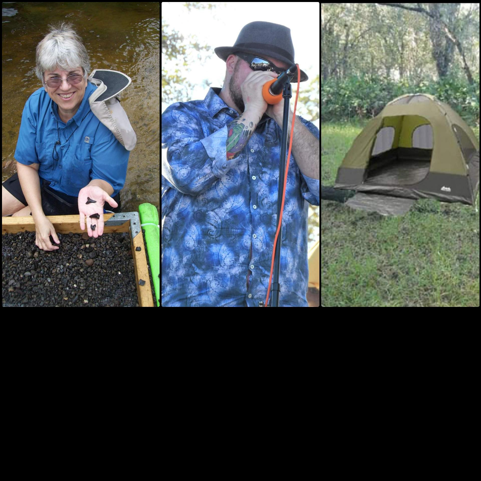 2 Days of Fossil Hunting and Overnight Camping wit