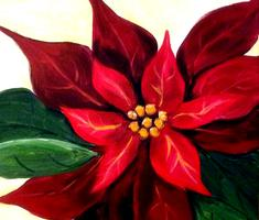 "Creole Canvas - ""Poinsettia"" - (SOLD OUT)"