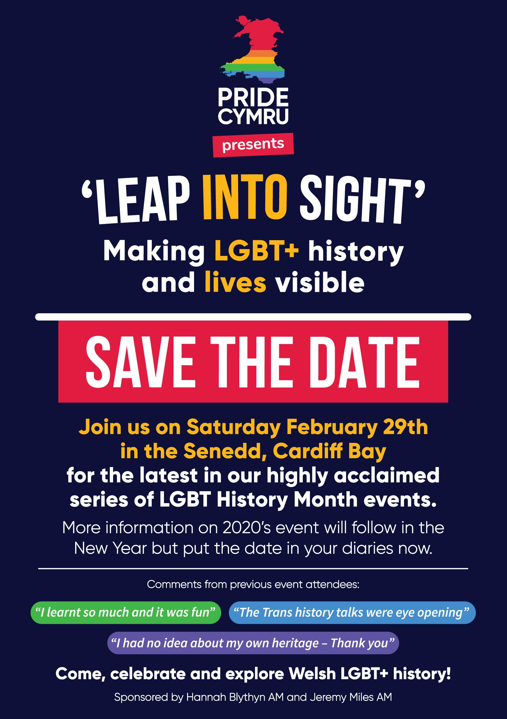 'Leap Into Sight' - Making LGBT+ history and lives visible