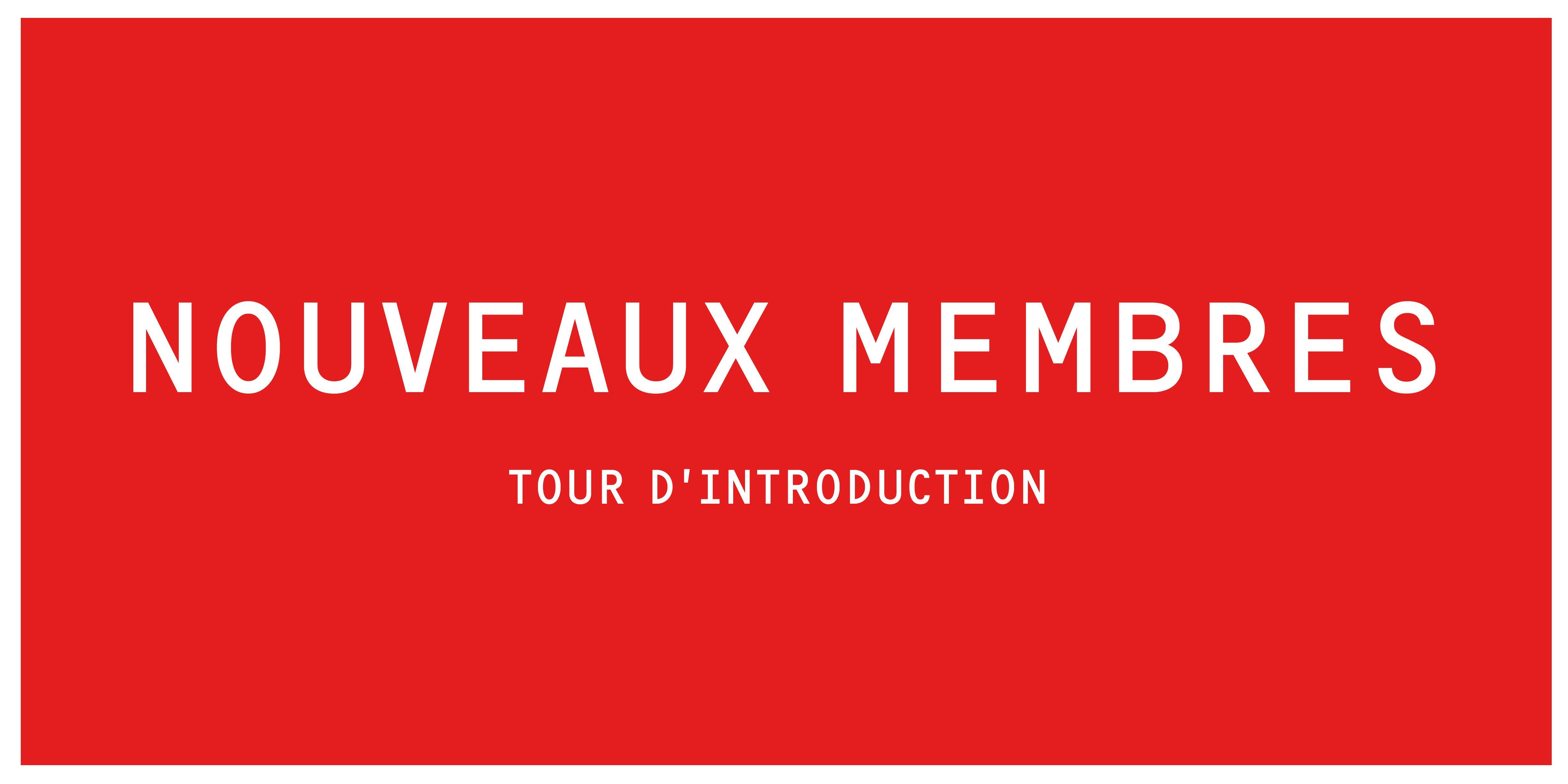INTRO B | Tour des nouveaux Membres