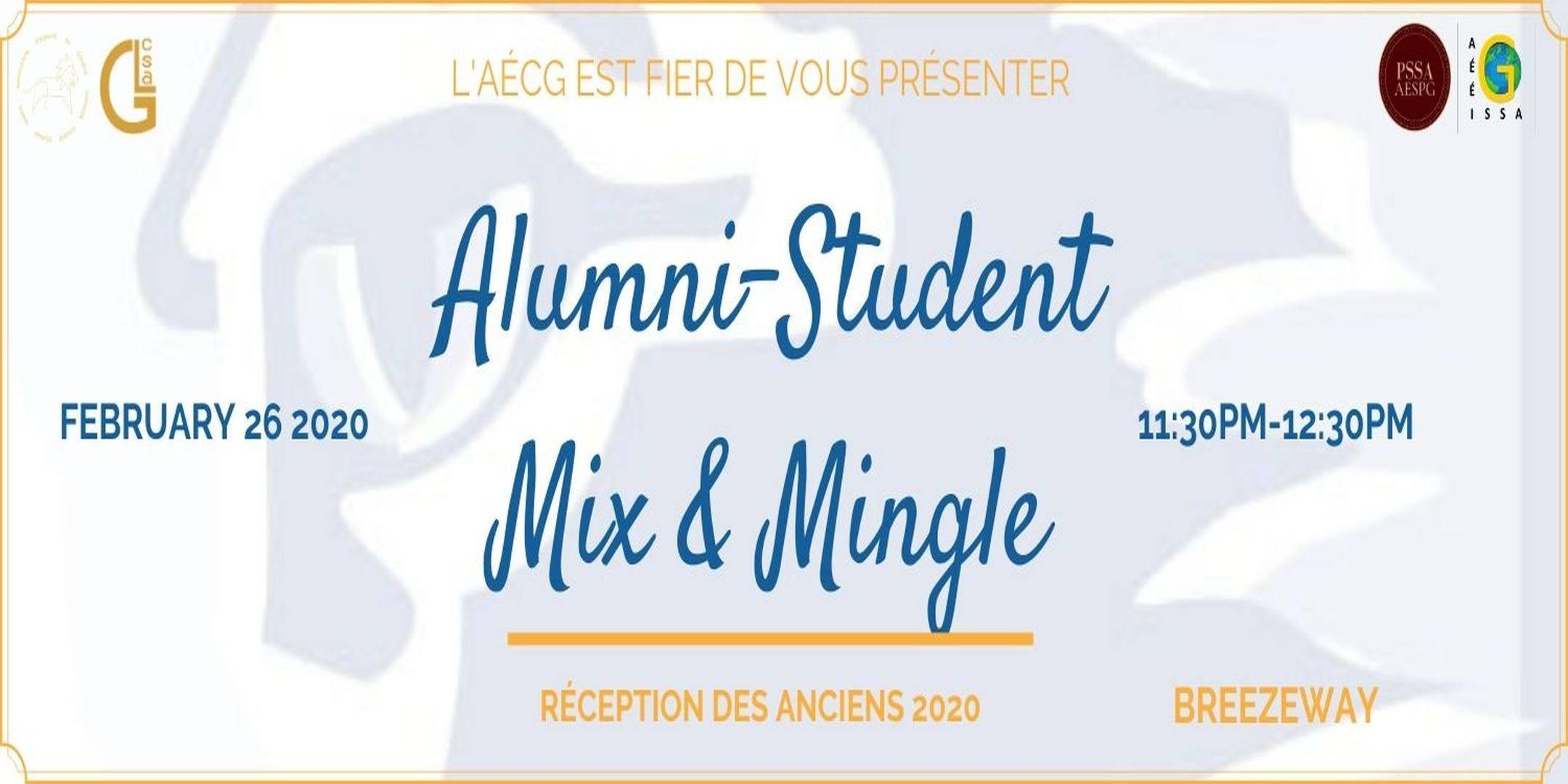 Alumni-Student Mix & Mingle   Rencontres et réseautages