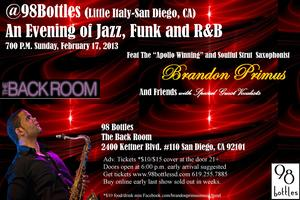An Evening with Saxophonist Brandon Primus and Friends