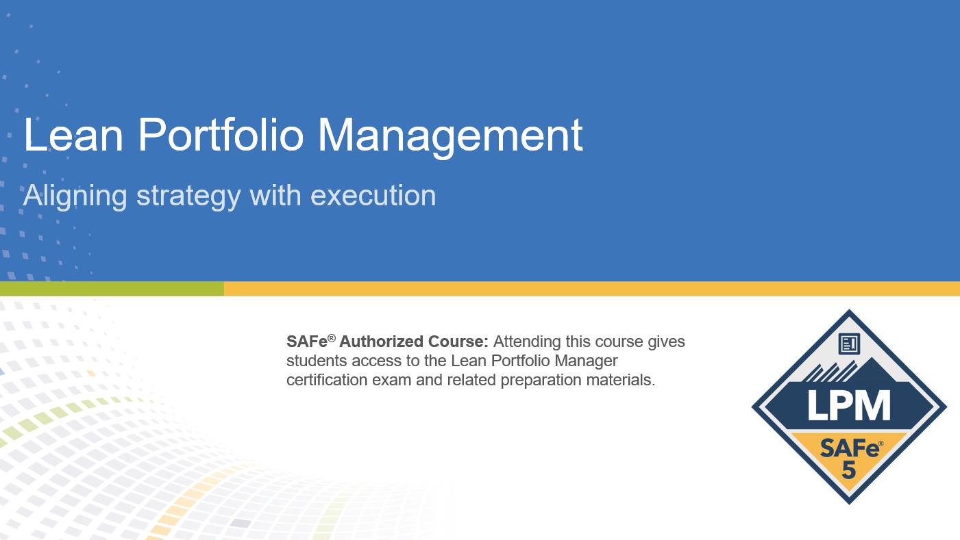 Lean Portfolio Management Certification Training in Montreal, Canada