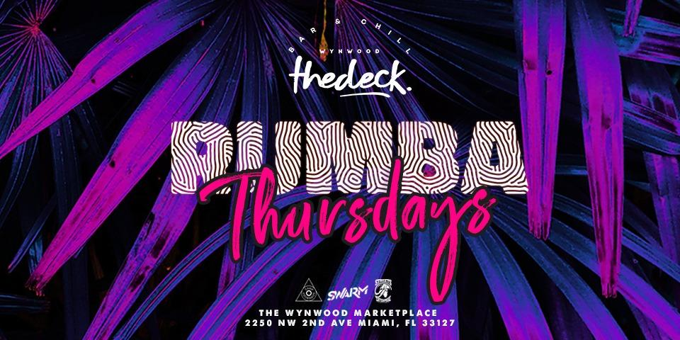 Rumba Thursdays at thedeck in The Wynwood Marketplace