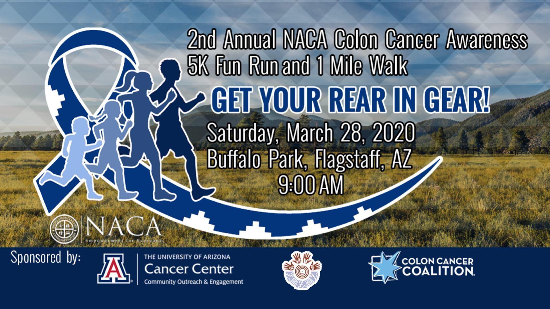 2nd Annual Naca Colon Cancer 5k Run 1 Mile Walk Get Your Rear 28 Mar 2020