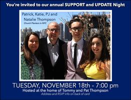 Annual Update and Support Night - Tuesday at Tommy and...