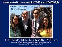 Annual Update Support Night - Thursday at Chris and...