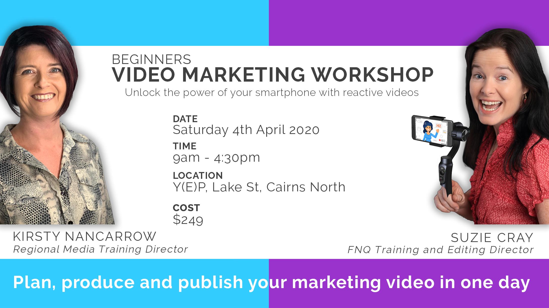 Beginners Video Marketing Workshop - Plan, Produce & Publish (Full day)