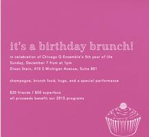 Chicago Q Ensemble's Birthday Brunch