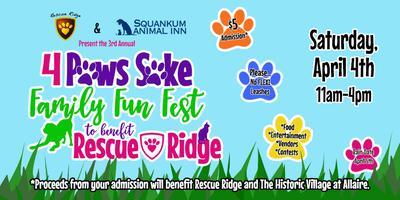 Postponed 4 Paws Sake Family Fun Fest