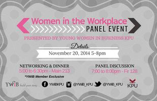 YWiB KPU Women in the Workplace Panel