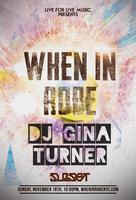 When In Robe Spa Party Presents: Gina Turner, Subset,...