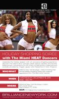MIAMI HEAT DANCERS HOLIDAY SHOPPING SOIREE AT BRILLIANCE NEW...