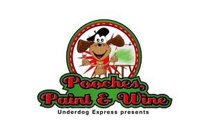 Pooches paint wine tickets sat dec 13 2014 at 6 00 for Paint and wine albuquerque