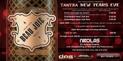 BEAU JOIE NYE New Years Eve at Tantra Miami Beach