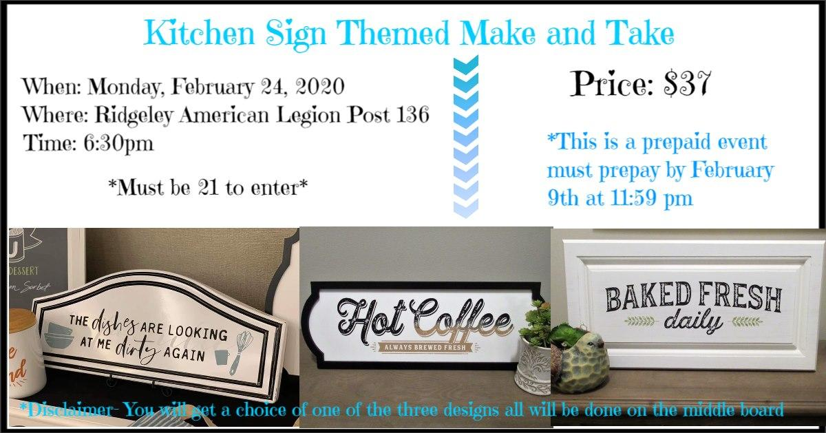 Kitchen Sign Themed Make and Take