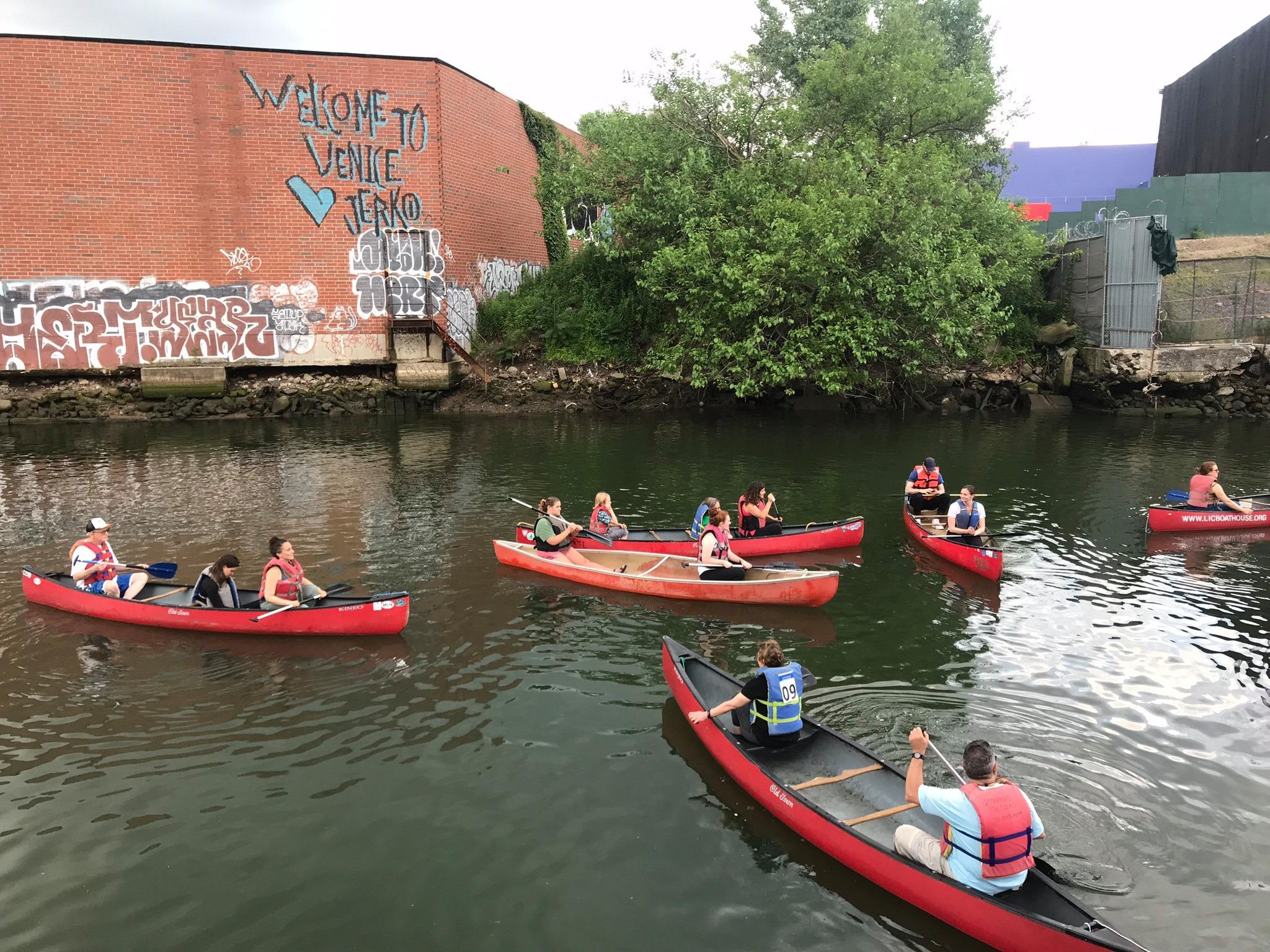Canoeing the Gowanus Canal in Brooklyn