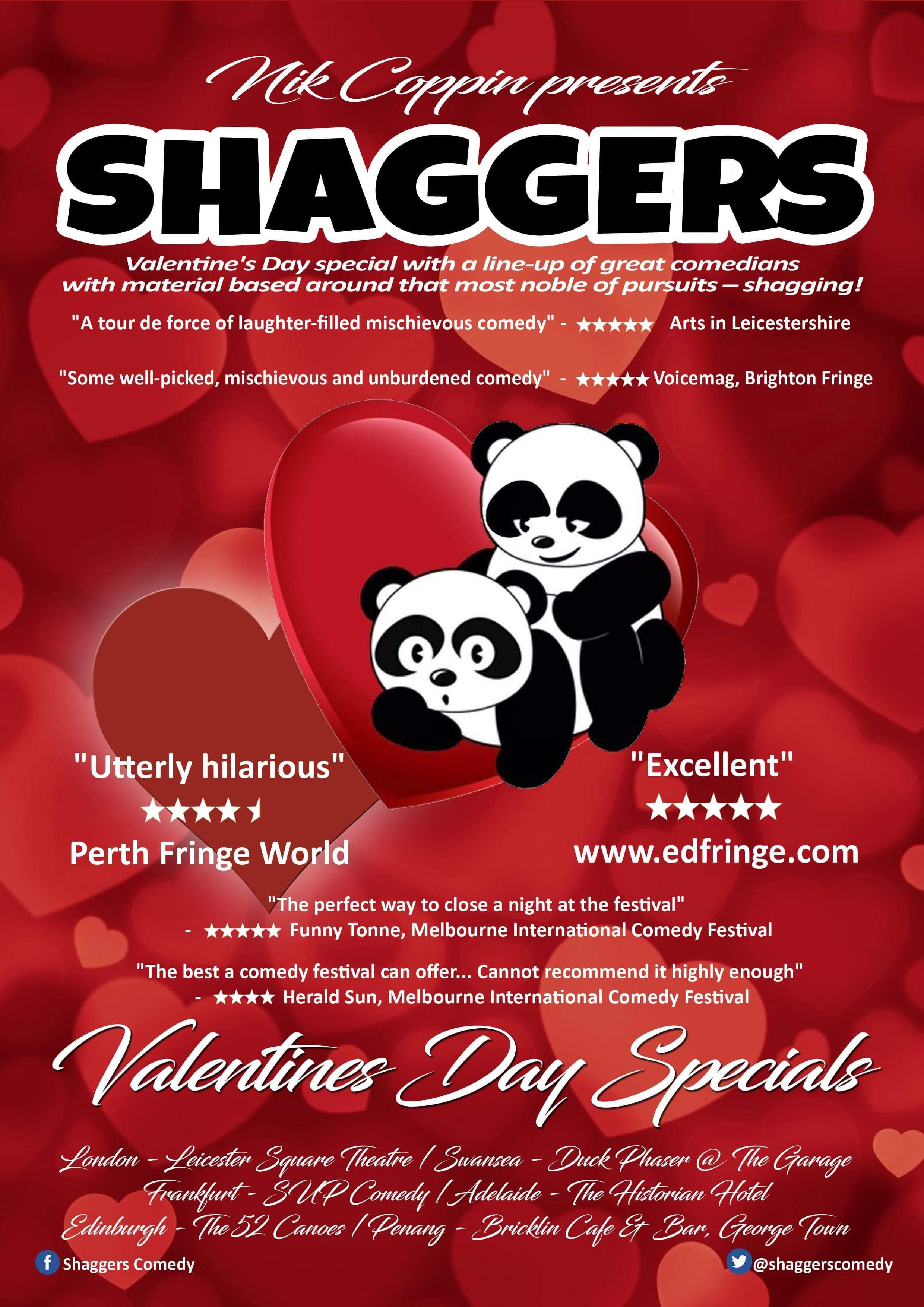 Shaggers: Valentine's Day Special, Edinburgh