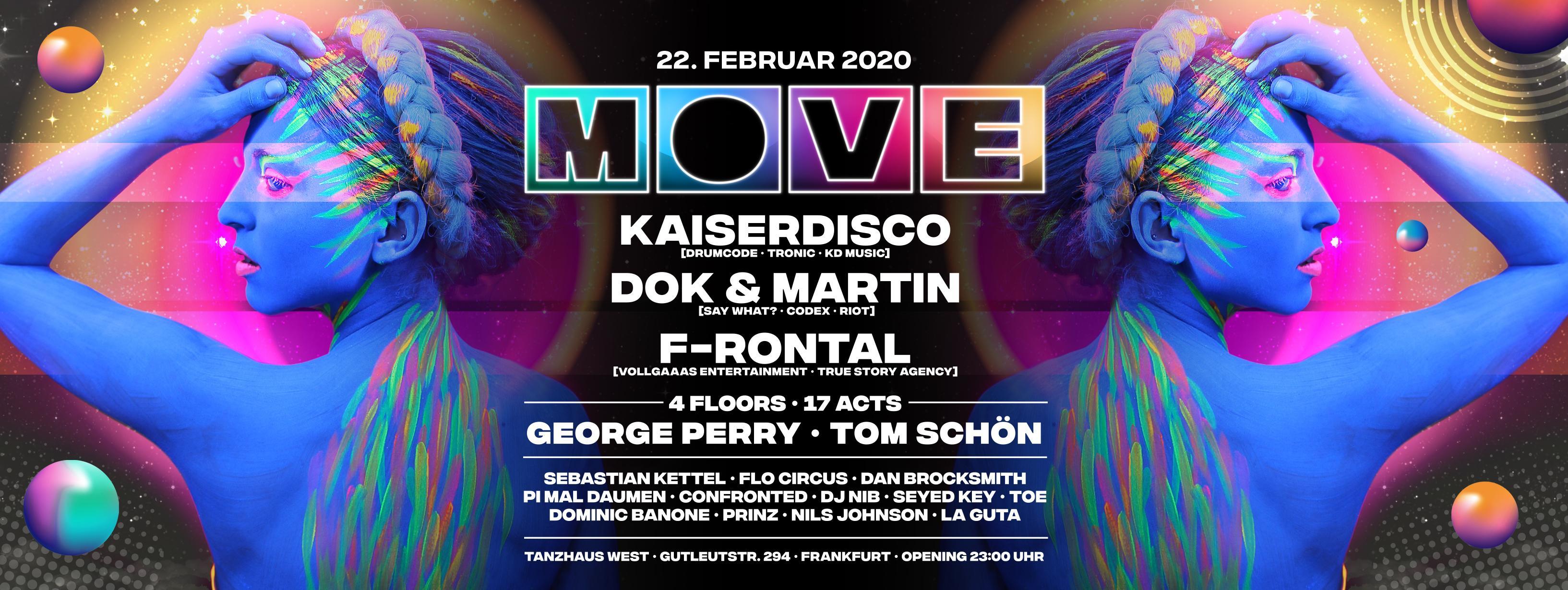 MOVE with Kaiserdisco, Dok & Martin, F-Rontal