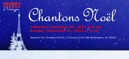 CCW Holiday Concert: Chantons Noël