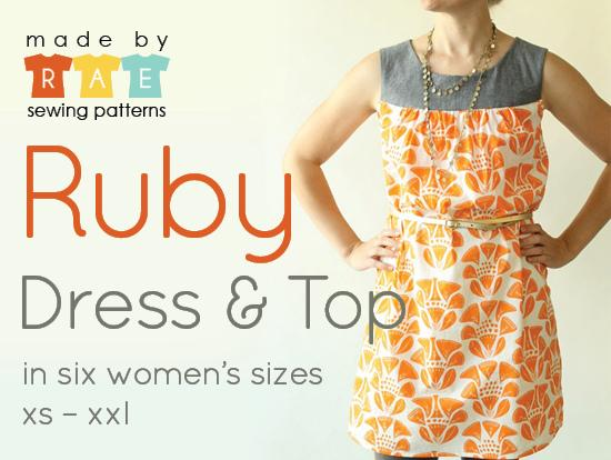 Ruby Top / Dress (Made by Rae pattern)