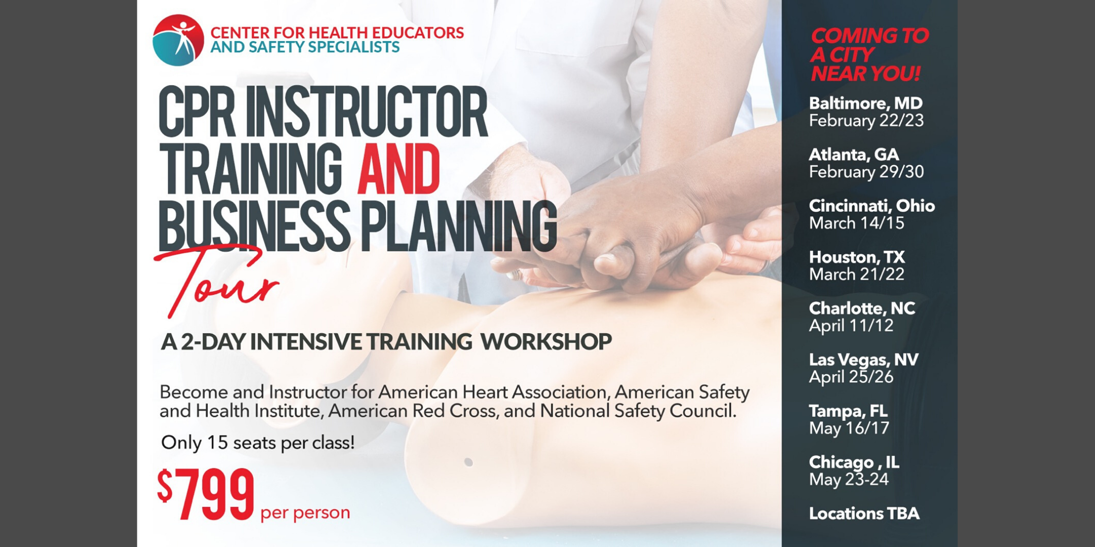 Mobile CPR Instructor Training and CPR Business Planning Tour- Chicago