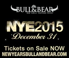 New Years Eve 2015 at Bull & Bear By Green Curtain...