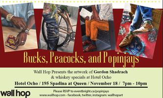 Wall Hop Art Show - Bucks, Peacocks, and Popinjays