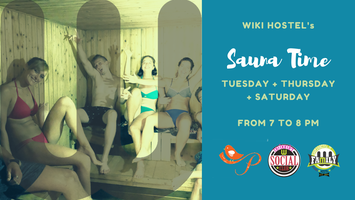 Sauna Time at WikiHostel! Detox, relaxing evening!