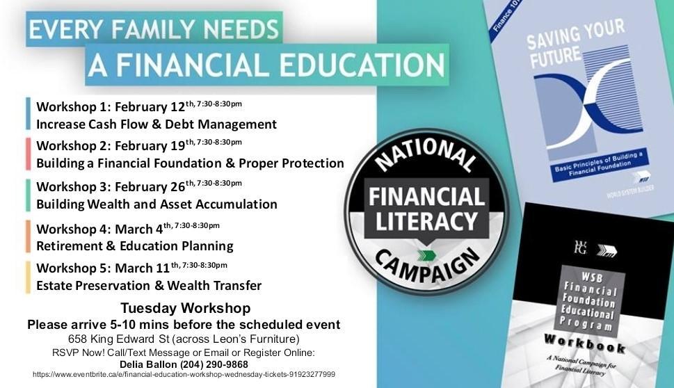 Financial Education Workshop - Wednesday