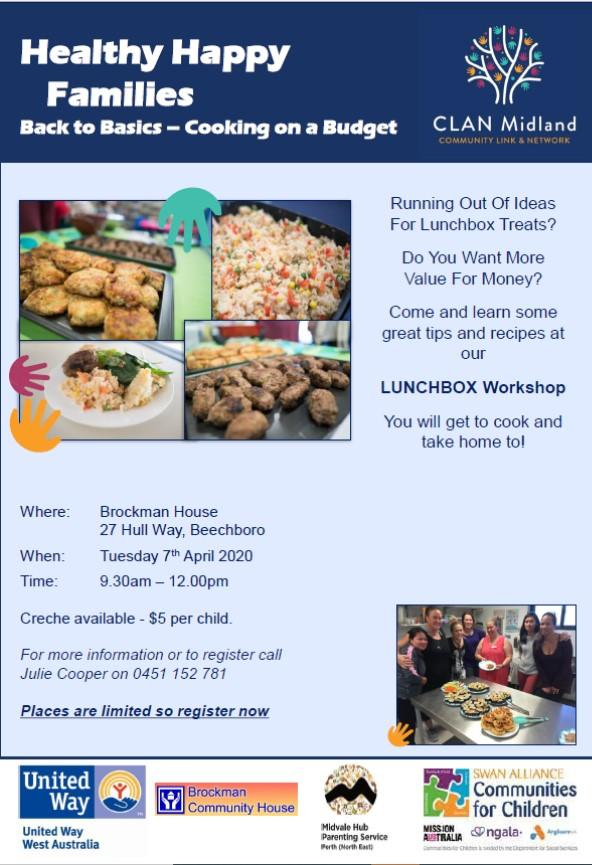 Healthy Happy Families- Free Lunchbox Session