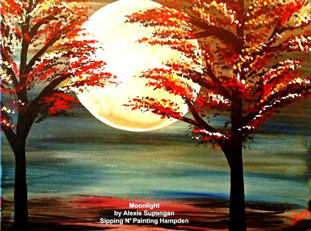 Paint Wine Denver Moonlight Fri April 3rd 6:30pm $35