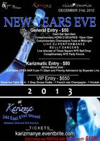 NEW YEARS EVE at KARIZMA LOUNGE