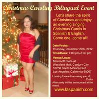 CHRISTMAS CAROLING BILINGUAL EVENT