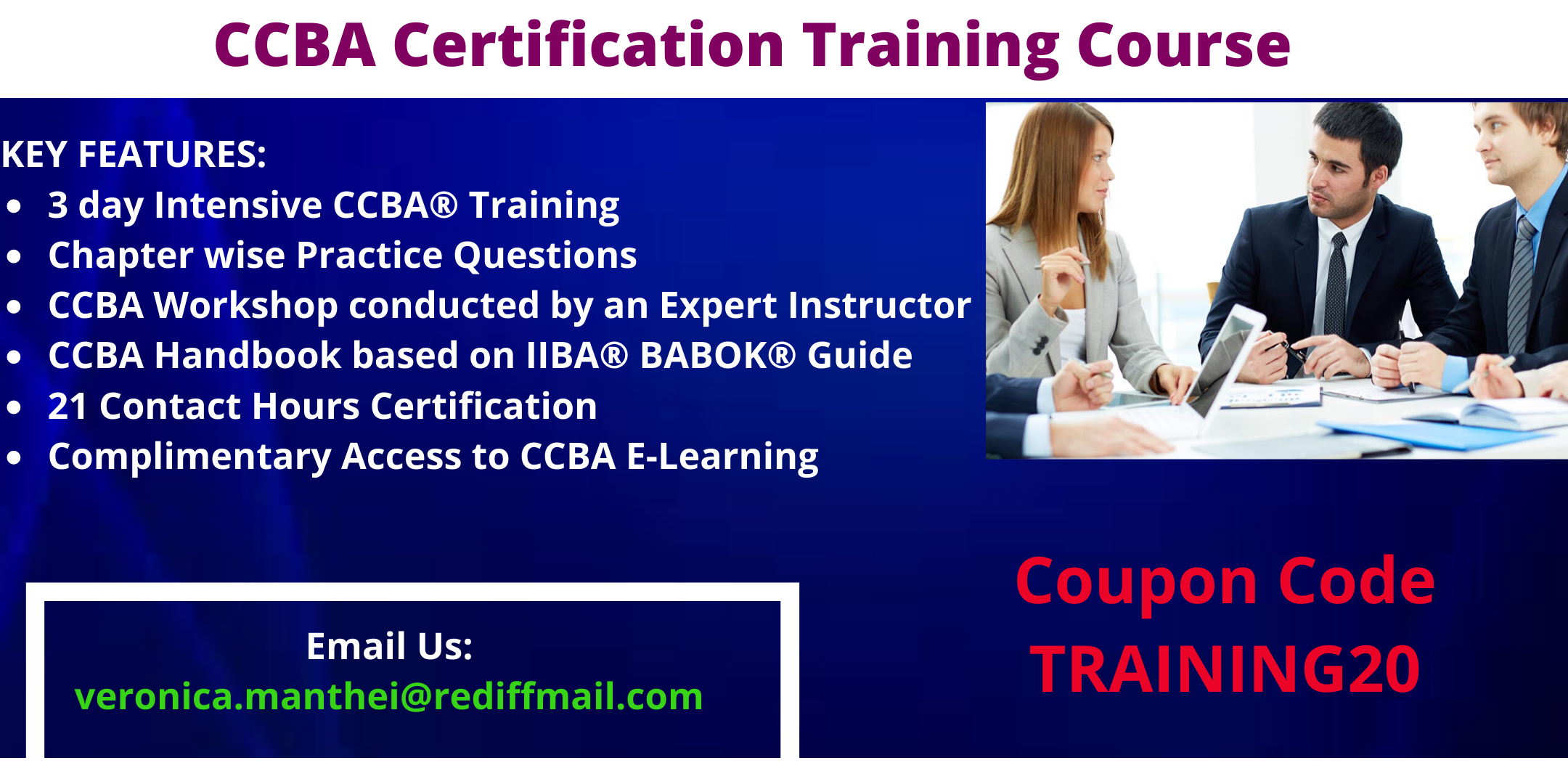 CCBA Certification Training in Montreal, QC