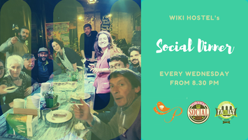 Social Dinner: genuine food, family tables, amazing...