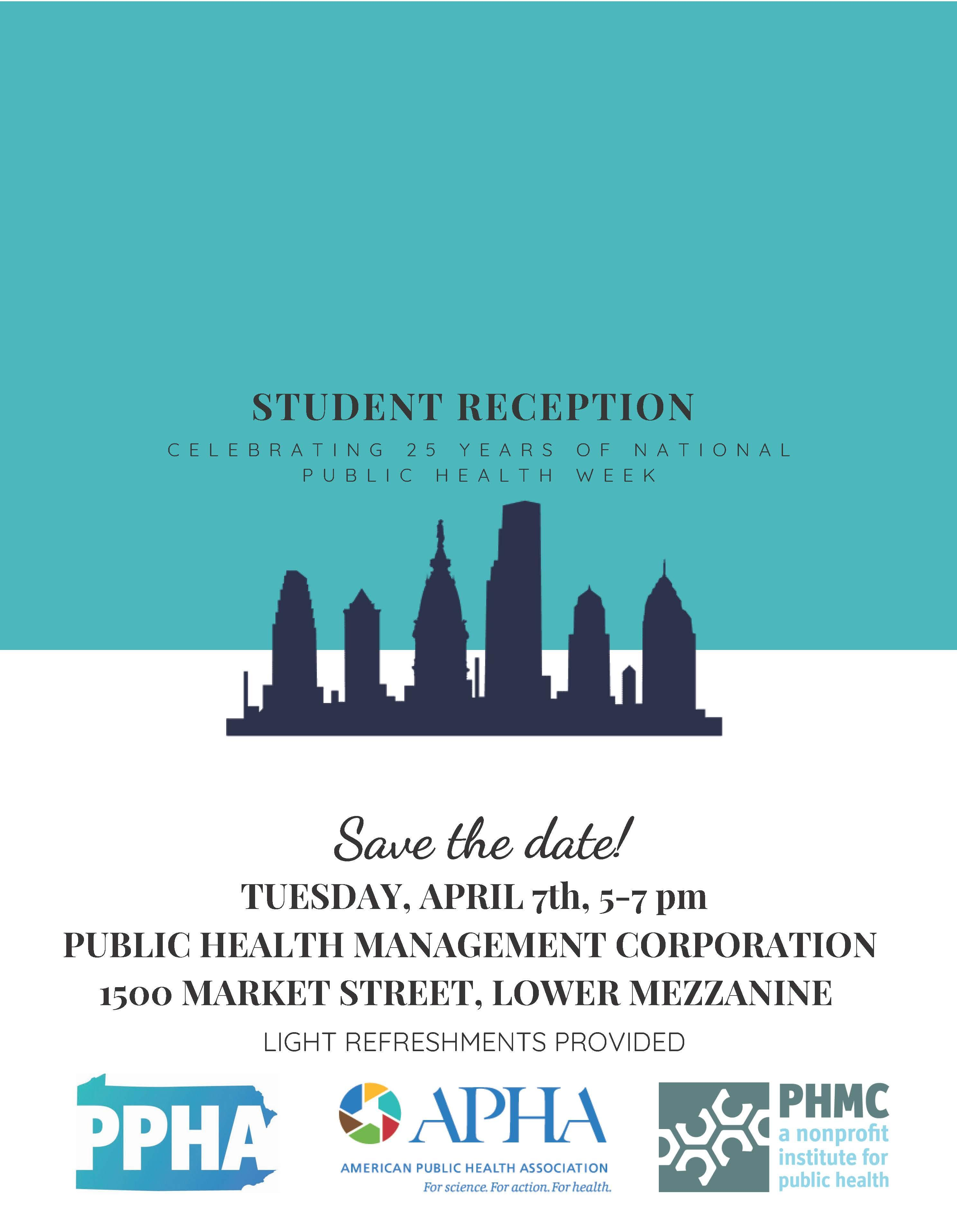 The APHA Student Assembly & PPHA Invite You to a Student Reception