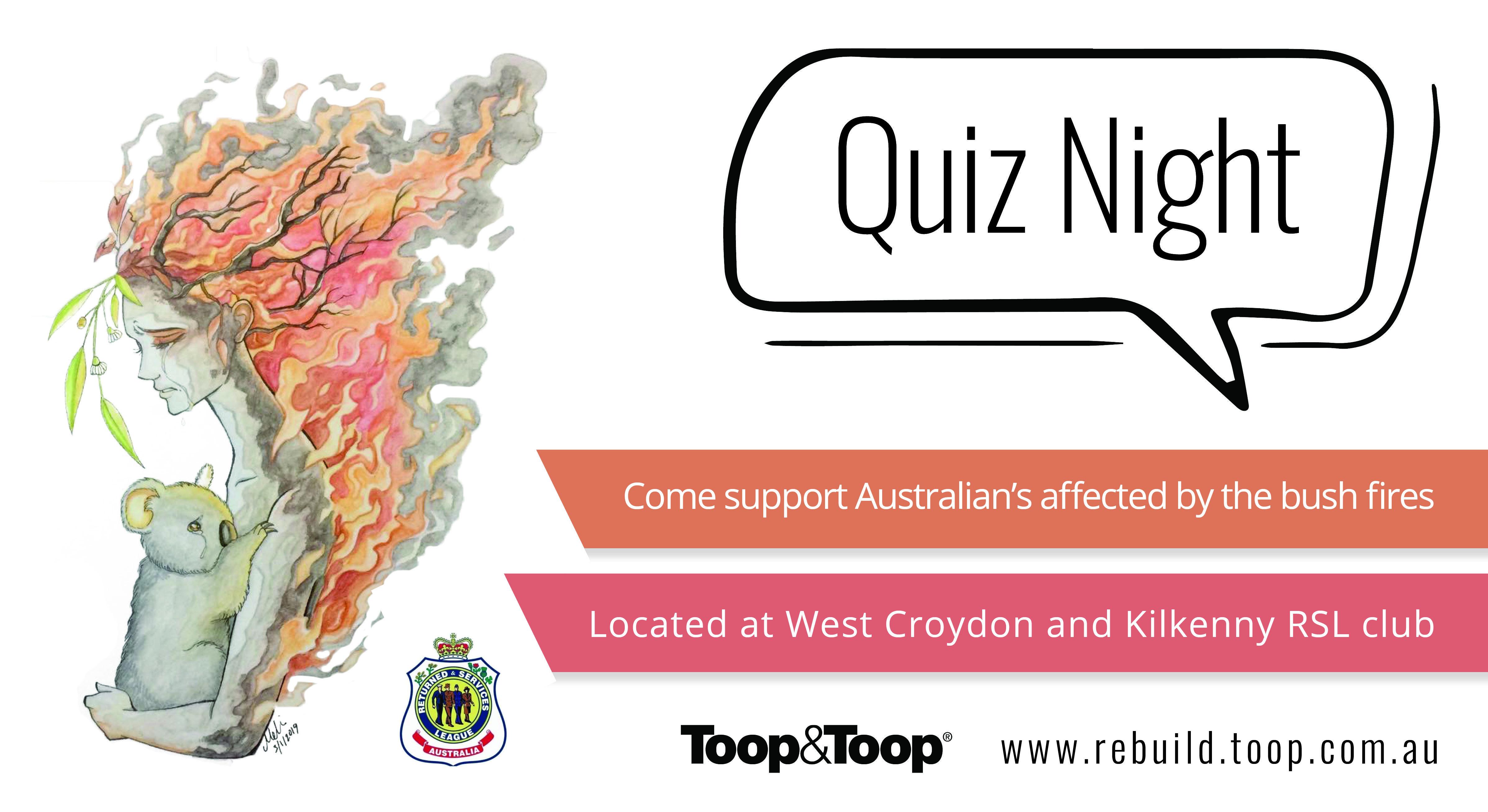 Toop&Toop Bushfire Relief Quiz Night