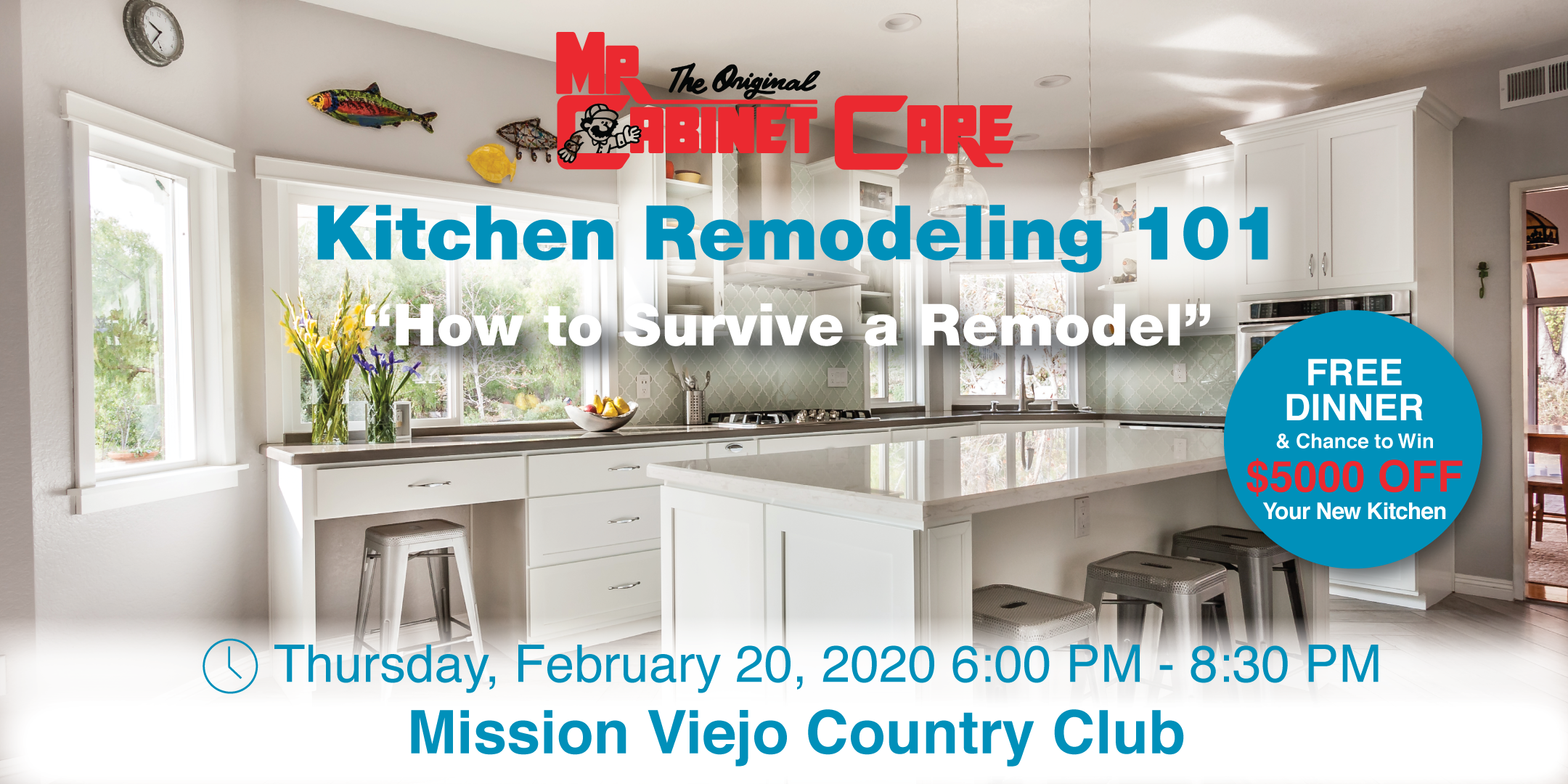 Kitchen Remodeling 101 Free Dinner Workshop Mission Viejo Country Club 20 Feb 2020