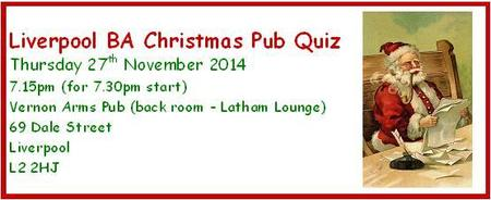 Liverpool BA Christmas Pub Quiz 2014