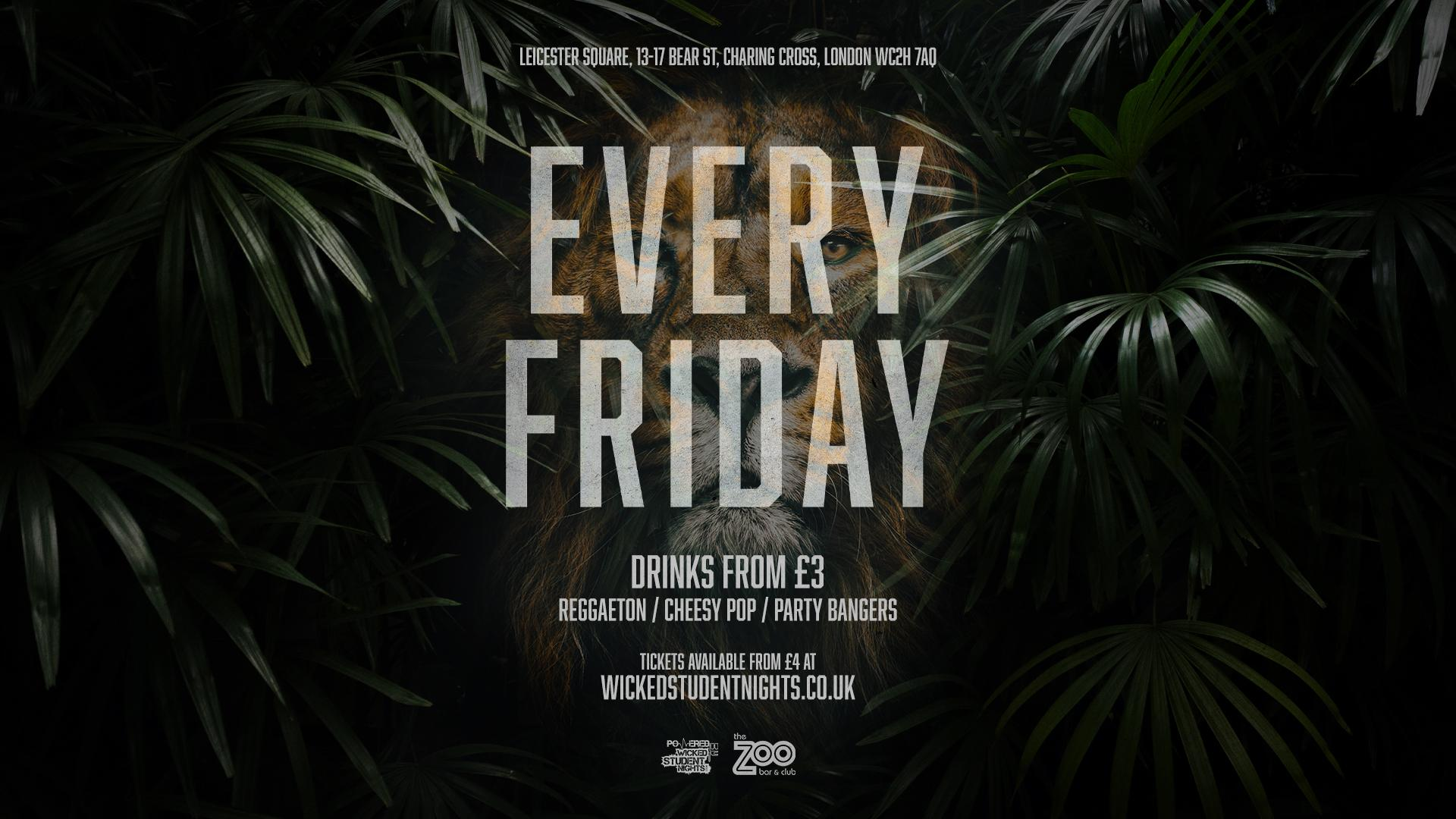 Zoo Bar every Friday // Student Drink Deals // Open till 3AM