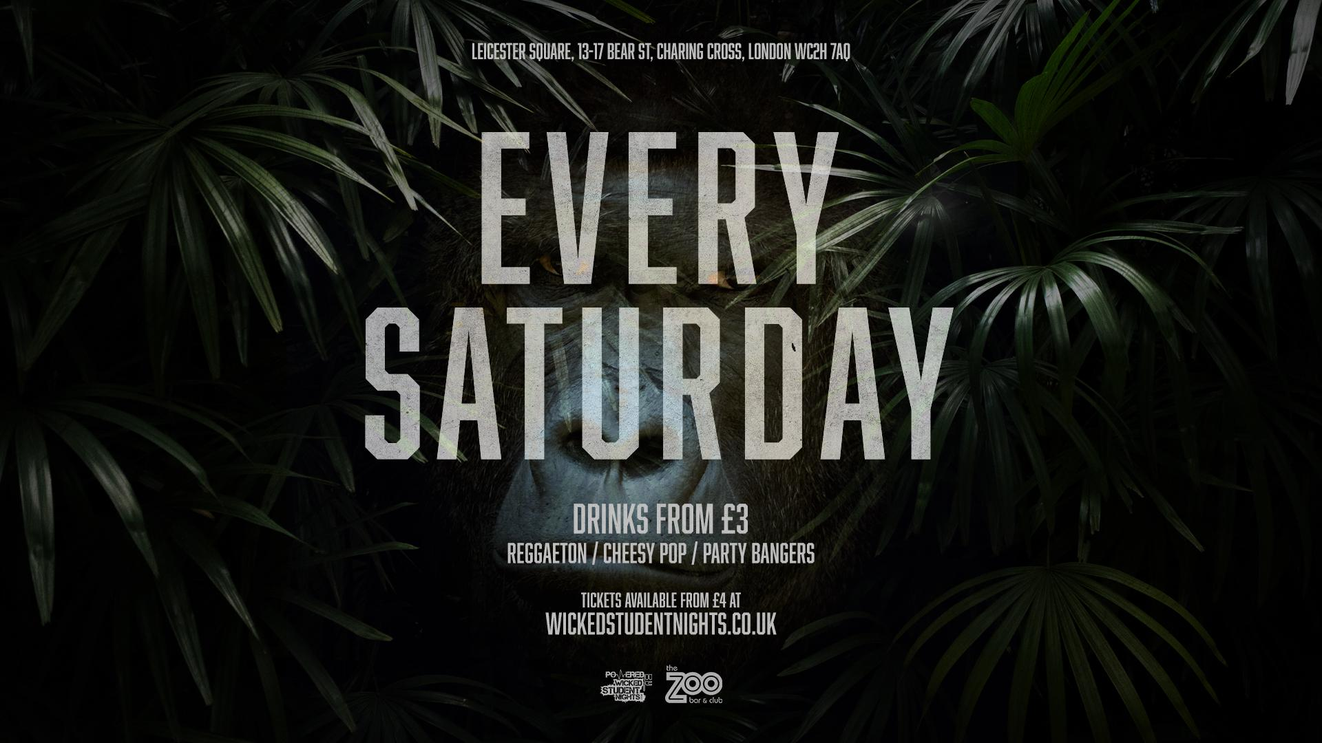 Zoo Bar every Saturday // Student Drink Deals // Open till 3AM