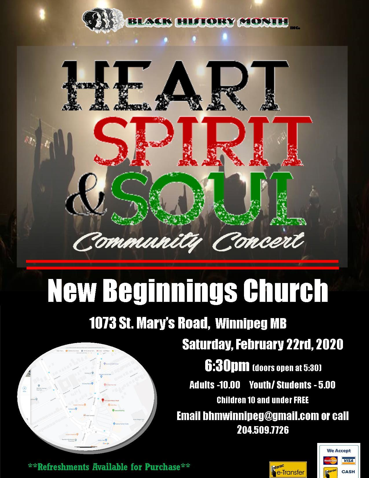 Heart Spirit and Soul Community Concert